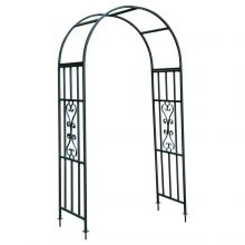 Woodside Metal Garden Arch, Traditional Decorative Archway for Paths/Entrances