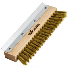 Woodside Wire Brush with Crimped Brass Bristles for Pizza/Smoke/Wood Ovens