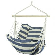 Woodside Swinging Garden Hammock Chair Outdoor Wooden Rope Swing Seat