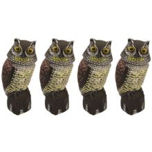 4 x Woodside Large Realistic Bird/Pigeon/Crow Owl Decoy With Rotating Head