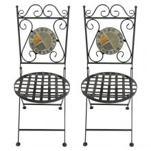 Woodside Set Of Two Mosaic Garden Chairs