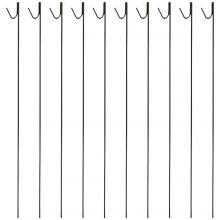 Woodside Pack of 10 8mm x 135cm Metal Barrier Safety Netting Fence Pins/Stakes
