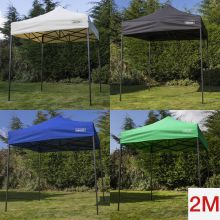 Woodside 2x2m Fully Waterproof, Heavy Duty Pop Up Gazebo + Carry Bag & Sand Bags