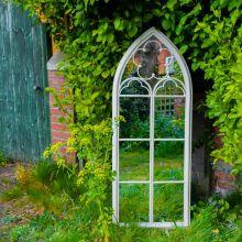 Woodside Darton XXL Decorative Arched Outdoor Garden Mirror