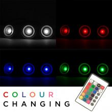 Woodside 30mm LED Colour Changing Deck Lights