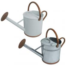 Woodside 9L Metal Garden Watering Can with Rose