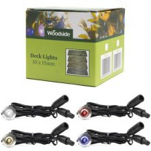 Woodside Set of 10 15mm LED Deck Lights