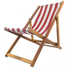 Woodside Beach Deck Chair RED/WHITE