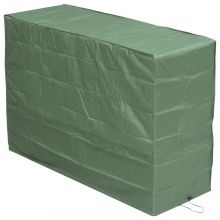 Woodside Large Green Wagon/Trolley Barbecue BBQ Cover Waterproof Garden