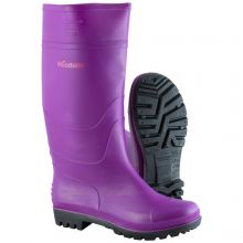Woodside Waterproof Wellington Boots PURPLE