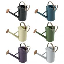 Woodside 4.5L Metal Garden Watering Can with Rose