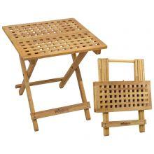 Woodside Belford Folding Walnut Wood Table