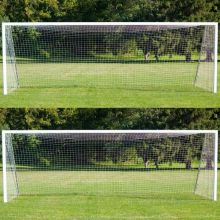 PAIR of 12FT X 6FT Football Net (0.6M Top Runback, 1.6M Bottom Runback)