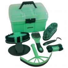 Woodside 8 Piece Equestrian Grooming Set for Horses & Ponies with Carry Case
