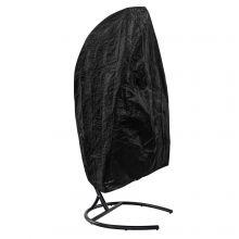 Woodside Garden Hanging Swing Egg Chair Outdoor Cover w/ Zipper Black 100g/M2 PE