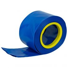 Woodside 10m x 102mm Blue PVC Layflat Hose Pipe Water Delivery Discharge 4 BAR