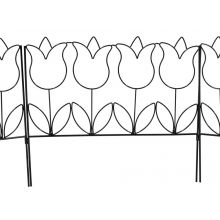 Woodside Tulip Style Garden Border Lawn Edging Steel Fence (pack of 5)