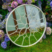 Woodside Yalding Decorative Round Outdoor Garden Mirror, Dia: 80cm