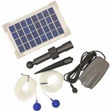 Woodside Solar Powered Oxygenator Pond Water Oxygen Pump 2 Air Stone Aerator