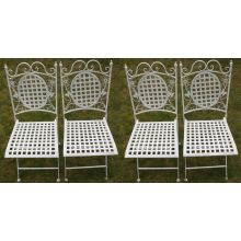 Maribelle Square Garden Chairs x 4