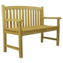 Woodside Wooden 4ft 2 Seater Garden Bench