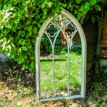 Woodside Holtby XL Decorative Arched Outdoor Garden Mirror