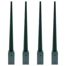Woodside Steel Fence Post Support Holder - 4 PACK