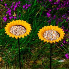 Woodside Cast Iron Sunflower Dish Bird Feeder (Pack of 2)