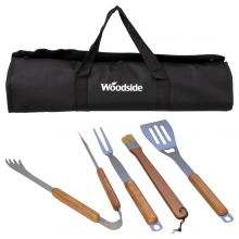 Woodside 4pc BBQ Tools Set
