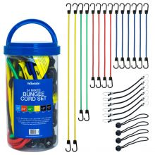Woodside 24 Pack of Assorted Heavy Duty Bungee Cords, 6 Different Lengths