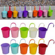 Woodside Multicoloured Steel Hanging Flower/Plant Pots Outdoor Vase (pack of 10)
