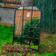 Woodside Ayton XL Decorative Rectangle Outdoor Garden Mirror, W: 70cm x H: 100cm