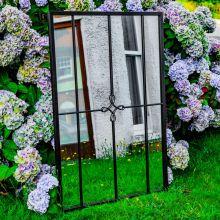 Woodside Yapton XL Decorative Rectangle Outdoor Garden Mirror W: 70cm x H: 105cm