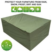 Oxbridge Large Oval Patio Set Waterproof Cover GREEN