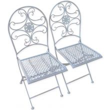 Woodside 2 x Metal Garden Chairs