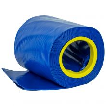 Woodside 10m x 153mm Blue PVC Layflat Hose Pipe Water Delivery Discharge 4 BAR