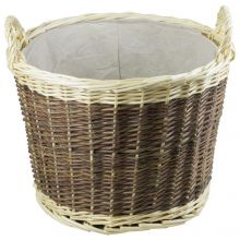 Woodside Wicker Fire Wood Log Basket