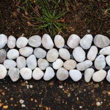 Woodside Pebble Strip Decorative Garden Lawn/Flower Bed Border Edging, Pack of 8