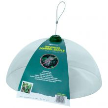 Woodside Plastic Universal Squirrel Baffle Dome with Hook, Bird Feed Guard