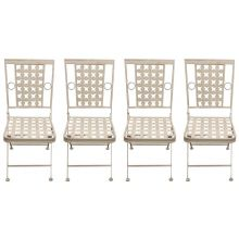 Woodside Square Metal Garden Chairs x 4
