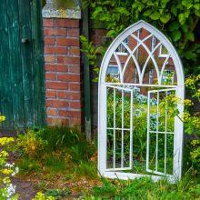 Woodside Truro XL Decorative Arched Outdoor Garden Mirror