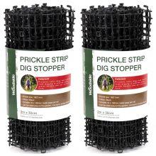 Woodside Prickle Strip Dig Stopper, Anti Dog & Cat Scat Mat, Garden Animal Scarer x 2
