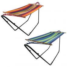 Woodside Outdoor Garden Swinging Hammock With Steel Stand