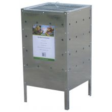 Woodside Square Garden Galvanised Steel Rubbish Incinerator - 100L Capacity