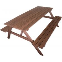 Woodside 6ft Pressure Treated Garden/Pub Bench