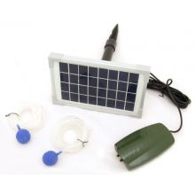 Oxbridge 2 Air Stone Aerator Pond Water Oxygenator Solar Powered Oxygen Pump