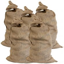 Woodside Large Hessian Garden Jute Bags for Potatoes, Vegetables, Plants etc