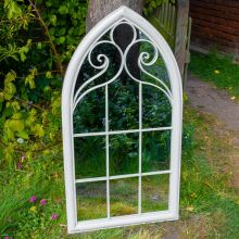 Woodside Selby XL Decorative Arched Outdoor Garden Mirror, W: 60.5cm x H: 111cm