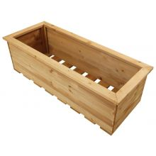 Woodside Stained Wooden Garden Trough Planter/Flower Container Box, 95 Litres