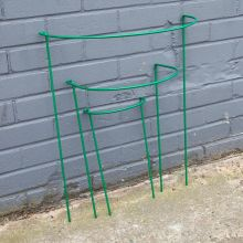 Woodside Steel Garden Plant Support Stakes, Half Round Flower Guard Cage (10 pack)